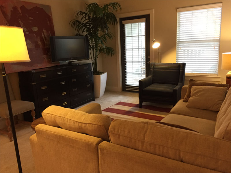 Living Area with Outdoor Patio
