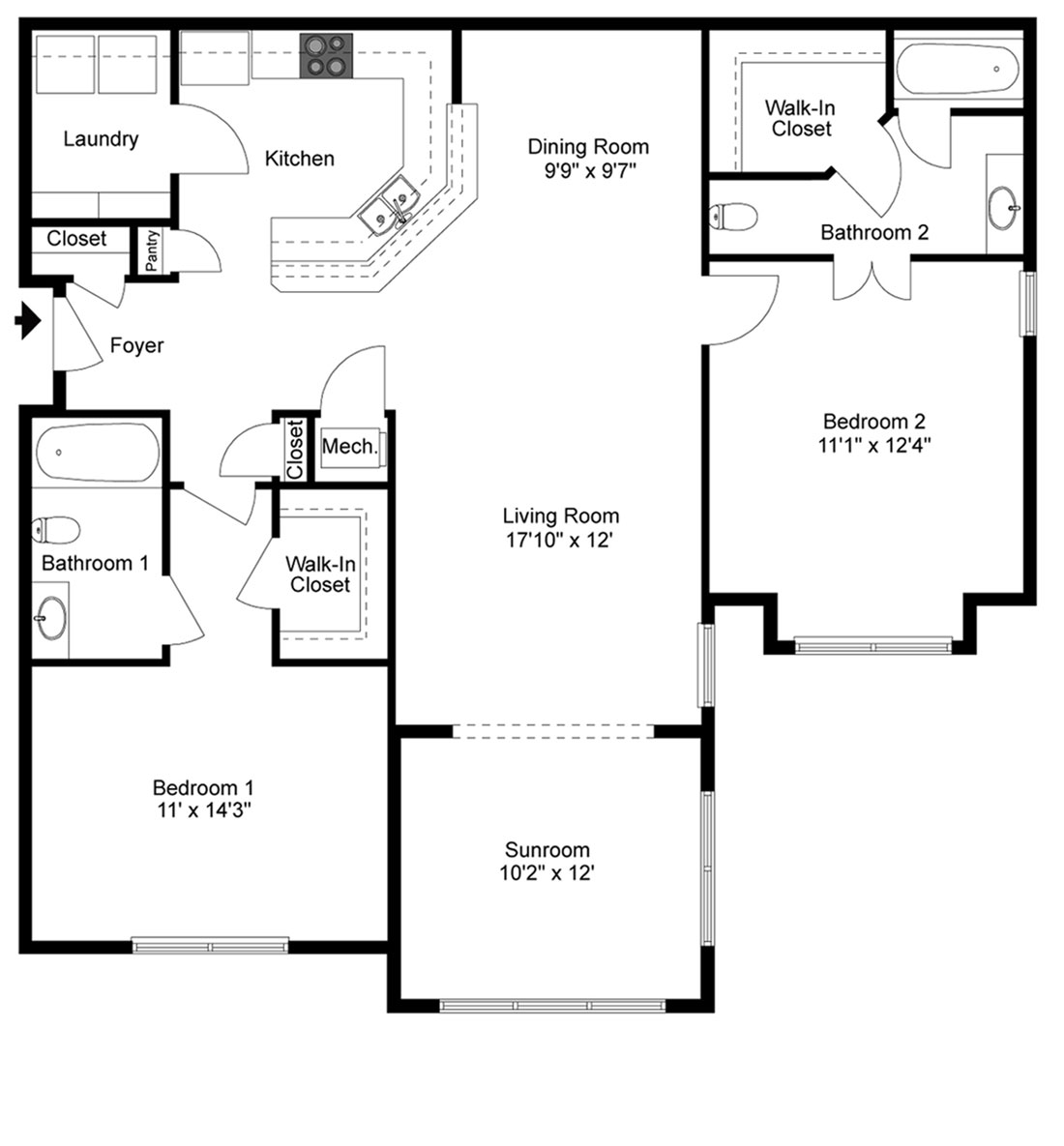 Two Bedrooms And Two Baths Sunroom Home Huntsville AL UAH